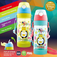 Puku - Friends Tritan Straw Canteen, 550ml (2 Colours)