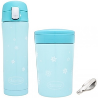 Autumnz - Chic Stainless Steel Vacuum Flask & Food Jar, 500ml (2 Colours)