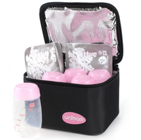 Unimom - Cooler Bag with  5 Milk Bottles & 2 Ice Packs