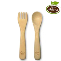 Haakaa - Bamboo Spoon & Fork Set, 1 Each
