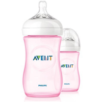 Philips Avent - Natural Bottles Feeding Bottle, 260ml (Twin Pack)