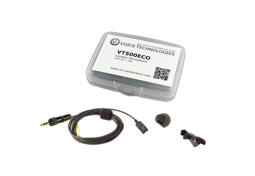 Voice Technologies VT500-ECO Miniature Omni Lavalier w/ Locking 3.5mm Connector for Sennheiser G3
