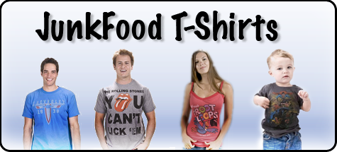 Thatsmyshirt.com is know for cool vintage style Junk Food Tees for men, women and kids.  Junk Food T-Shirts are soft, fun, nostalgic t-shirts that celebs and everyday people love!