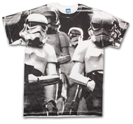 Star Wars Stormtroopers On Patrol All-Over White Graphic TShirt