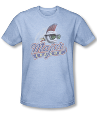 Major League Distressed Logo Vintage Heather Mens Tee Shirt