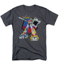 Mens Voltron Blazing Sword Tee Shirt in Charcoal
