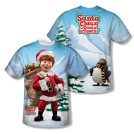 Santa Claus is Coming to Town Helpers Sublimation Tee Shirt