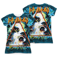 Def Leppard Hysteria Juniors Sublimation Tee Shirt