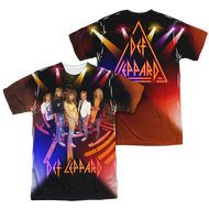 Mens Def Leppard on Stage Sublimation Tee Shirt