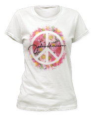 Ladies John Lennon Peace Tee Shirt
