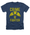 Batman Crime Fighter Vintage Heather Adult Tee Shirt