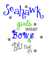 Seahawk bling and bows