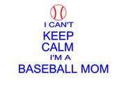 I can't keep calm baseball