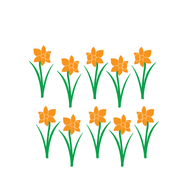 Daffodils Flower Wall Decals