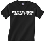 Western Band Association - WBA -  Block Black T-Shirt