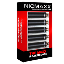 "Five Pack of NICMAXX ""The MAXX"" Rechargeable *PG  Electronic Cigarette Cartridges"