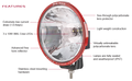 Big Red 180mm LED Driving Light EACH