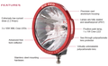Big Red 220mm LED Driving Light Each