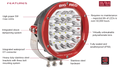 Big Red 180mm High Power LED Driving Light EACH