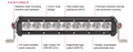 "BR9110 12 "" Big Red Single Row Light Bar"