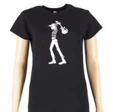 Black t-shirt - Ladies fit, front