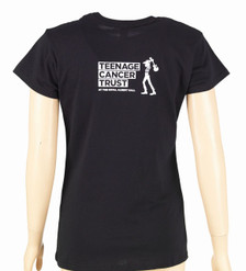 Black t-shirt - Ladies fit, back
