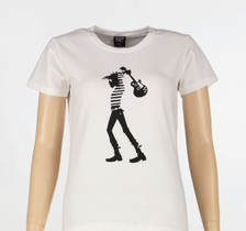 White t-shirt - Ladies fit, front