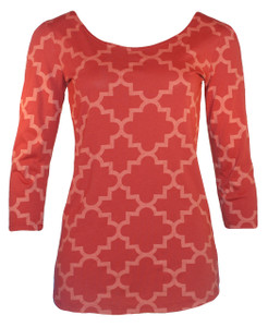 Graceful Ballet Top in Vintage Red Trellis