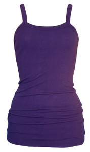 Dark purple ribbed cotton tank top