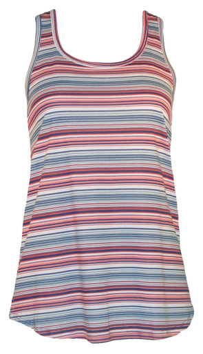 Red white blue striped racerback tank top