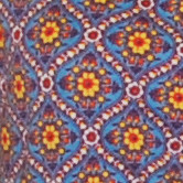 Red yellow blue small Dutch calico floral print fabric