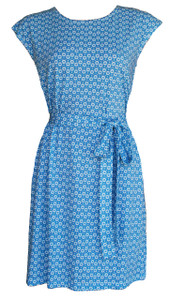 Blue  hazel dot soft knit belted tunic