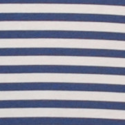 Vintage navy white nautical striped cotton