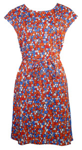 Honeycomb print cotton/modal belted tunic