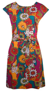 Garden of Eden floral print belted tunic