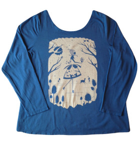 Winter Betty Cornflower Blue Plus Size Tee