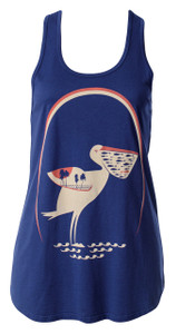 Navy red white pelicans racerback cotton modal tank sleeveless top