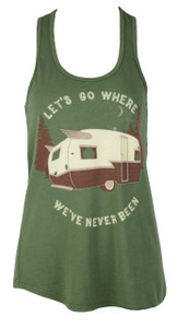 Lets Go Campin' Tank in Olive Forest
