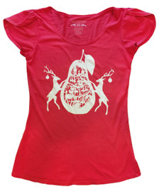 12 Days of Christmas festive red holiday tshirt top
