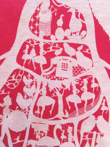 design detail for 12 Days of Christmas festive red holiday tshirt top