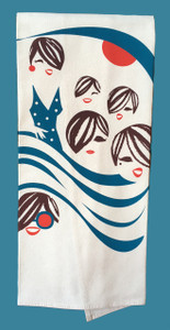 Lovely Lasses Soaking up Sunshine Cotton Tea Kitchen Towel
