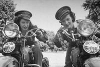 vintage motorcycle pic women on bikes