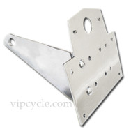 These license plate brackets are a great accessory for giving your ride a custom look. They are not only useful, but the chrome finish on them shines like a mirror.  They are designed to fit all standard motorcycle license plates and you can easily attach a tail light to the top of them as well.