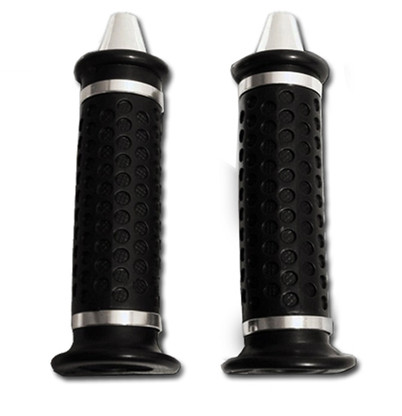 These gel grips are not only heavy duty and 100% weather-proof, but feature a removable chrome end-cap making them aesthetically pleasing as well.  Best of all, they provide a sturdy grip making throttle tuning smooth and precise.