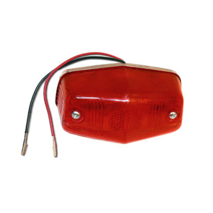 Need to replace your tail light? Then look no further.  This tail light is heavy duty made, 100% weather-proof, and works as a tail light/brake light combo. It comes with a dual filament 12 volt bulb and gives off a bright red light when activated.  The tail light lens is red and features a triple plated, chrome billet back plate.
