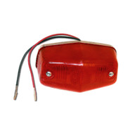 Need to replace your tail light? Then look no further.  This tail light is heavy duty made, 100% weather-proof, and works as a tail light or as a brake light. It uses 6 long lasting LED's and gives off a bright red light when activated.  The tail light lens is red and features a triple plated, chrome billet back plate.