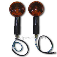 Looking to give your motorcycle a mean yet sleek look? Then upgrade your rides turn signals with these high quality turn signals, featuring a cool, black finish. Sold as a pair.