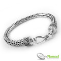 925 Sterling Silver Nomad Round Dragon Bone Bracelet
