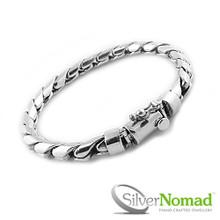 """925 Sterling Silver Putra Curb """"Bekel"""" Bracelet"""