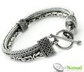 925 Sterling Silver Nomad Borobudur and Naga Bracelet